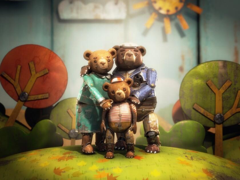 """Un fotograma proporcionado por Gabriel Osorio de la película animada """"Bear Story"""" dirigida por Osorio y producida por Pato Escala. Es uno de los cinco cortometrajes animados que compiten por el Oscar. La 88ª ceremonia de los Premios de la Academia se realizará el 28 de febrero de 2016. (Gabriel Osorio via AP)"""