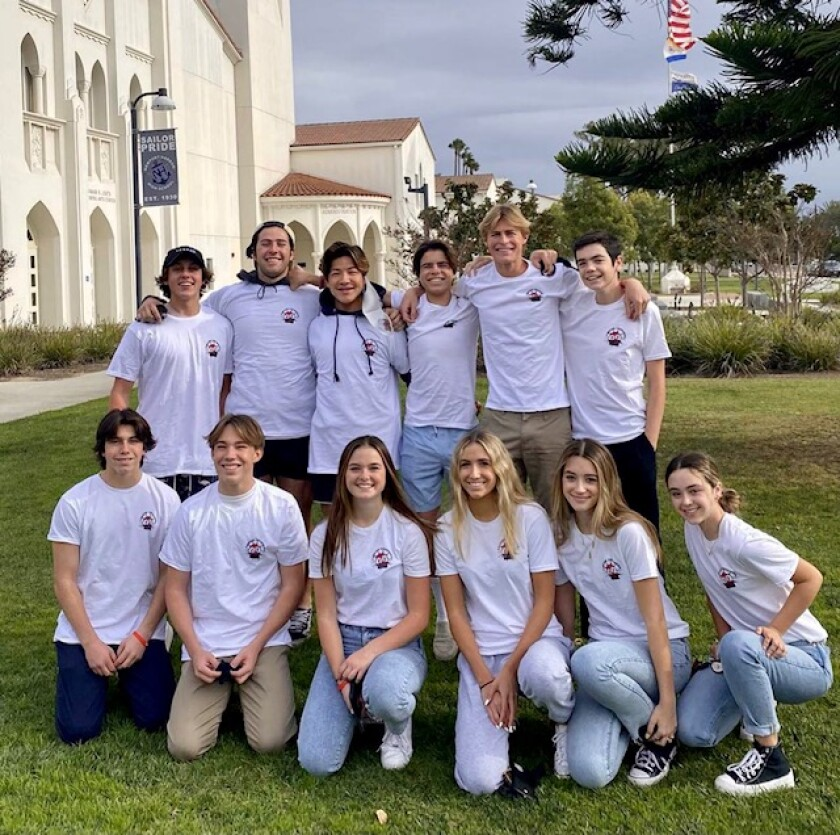 The Teen Cancer Crushers at Newport Harbor High School