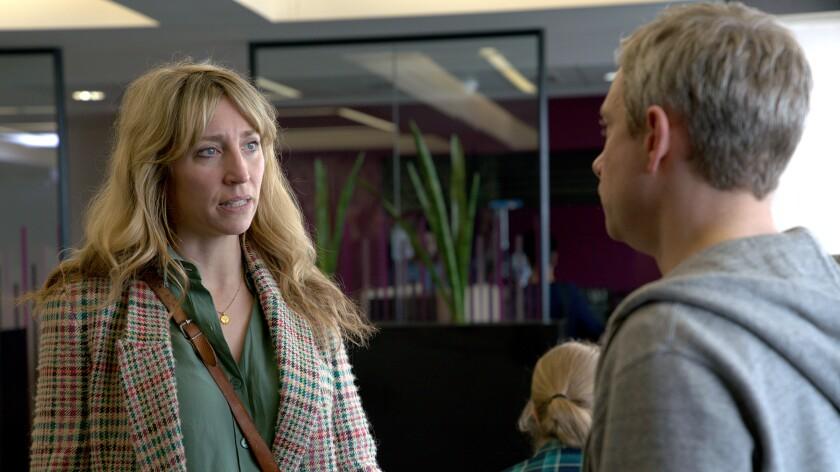 "Daisy Haggard and Martin Freeman in the season finale of ""Breeders"" on FX."