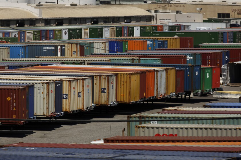 Premium Transportation Services, a major trucking company at the ports of Los Angeles and Long Beach, has filed for bankruptcy protection.