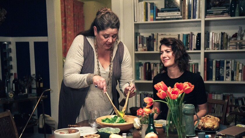 Camryn Manheim and Mary Elizabeth Winstead in a scene from the movie, All About Nina. Photo Credit: