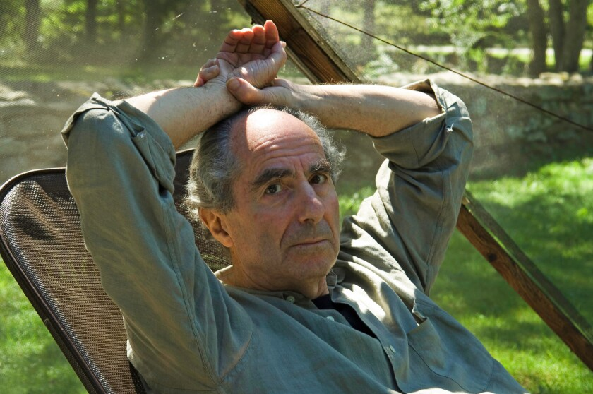 Novelist Philip Roth in 2005 at his home in Warren, Conn.