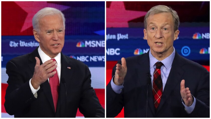 Biden criticizes Steyer's coal-mining investments after billionaire promises to fight climate change