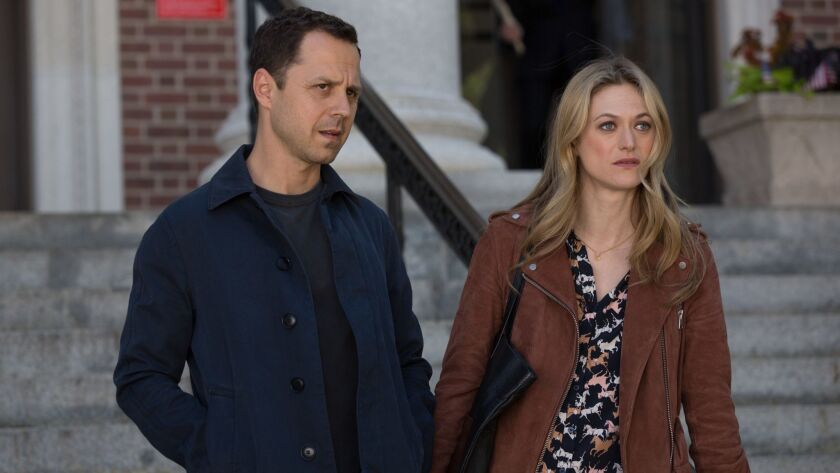 "Giovanni Ribisi and Marin Ireland in the Amazon Studios series ""Sneaky Pete."""