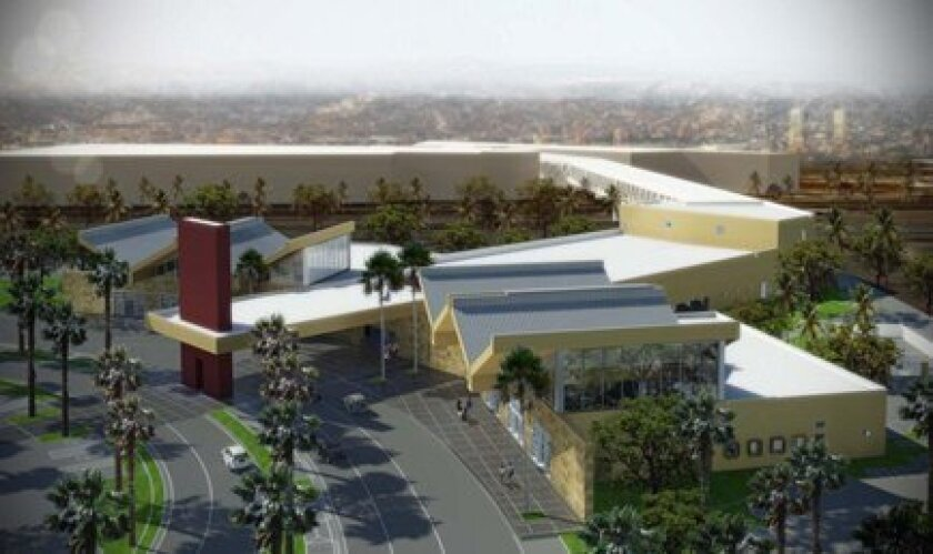 An artist's rendering of the proposed cross-border terminal. / Image courtesy of city of San Diego