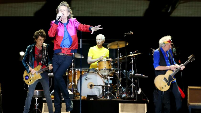 INDIO, CALIF. - OCR. 14, 2016. Mick Jagger and the Rolling Stones perform at weekend 2 of Desert Tr