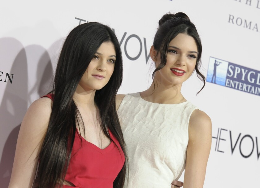 Sisters Kylie Jenner, left, and Kendall Jenner in February 2012.