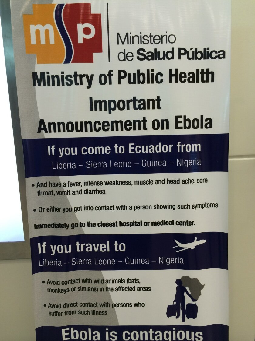 EconoMeter panelist Phil Blair snapped a  photo of this sign at the Lima, Peru, airport.