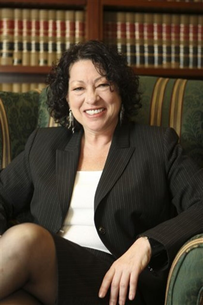 This undated handout photo provided by the White House shows Sonia Sotomayor in 2009. Earlier this week, President Barack Obama nominated Sotomayor to the Supreme Court to replace the retiring Justice David Souter. (AP Photo/White House)