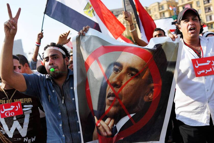 Anti-Americanism flares in Egypt as protests rage over Morsi's ouster