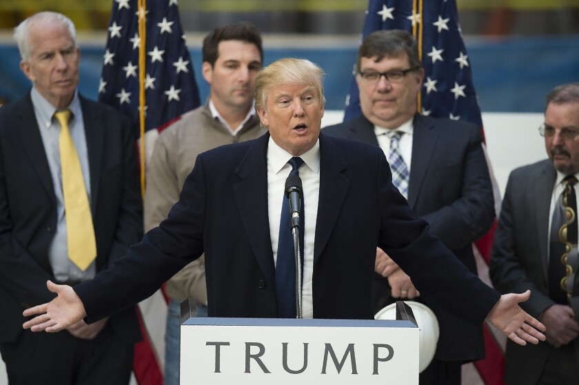 Republican presidential candidate Donald Trump has yet to win over the Republican Party, despite being its presumptive nominee.