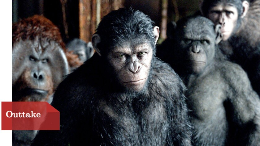 """Caesar (Andy Serkis) ponders his next move as he faces a threat posed by a colony of humans in """"Dawn of the Planet of the Apes."""""""