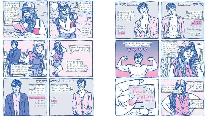 """Panels from """"Manhunt,"""" as featured in Gina Wynbrandt's debut book."""