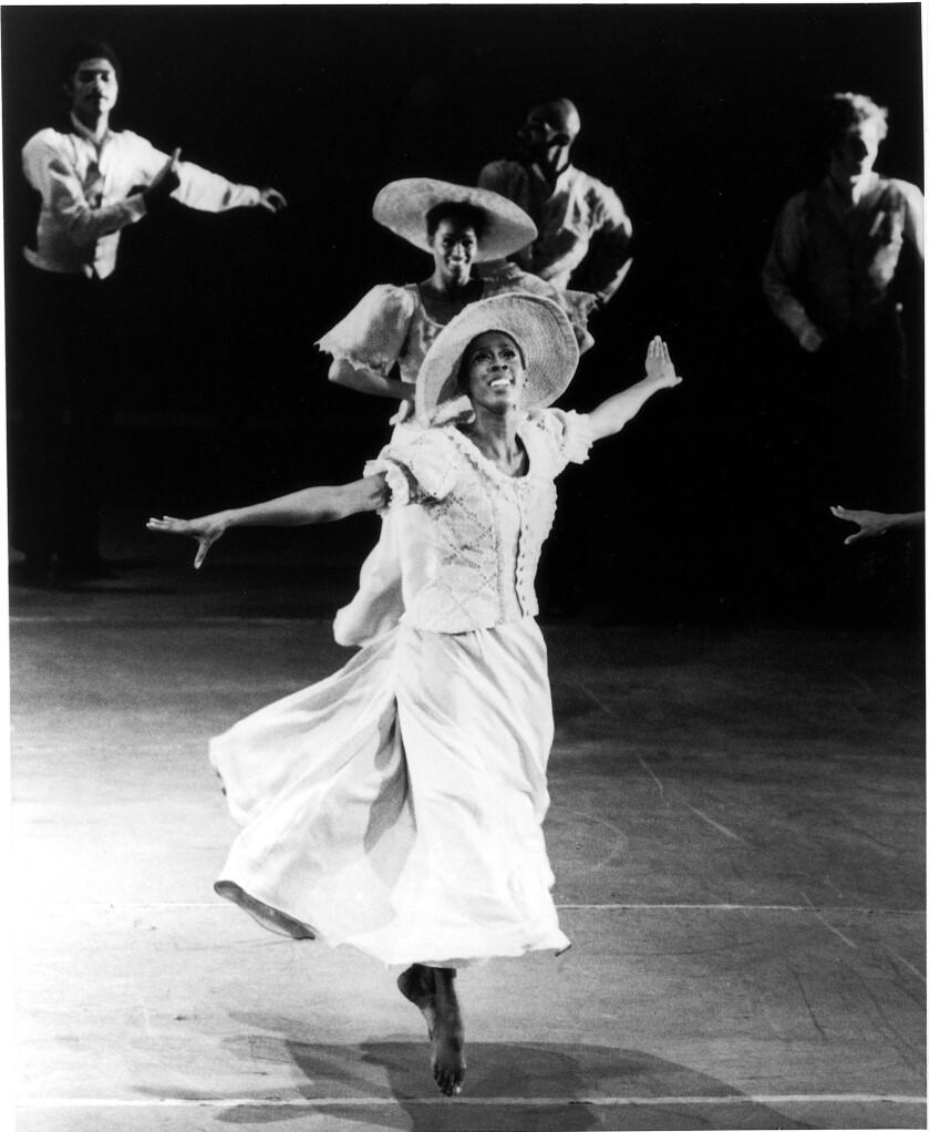 "Judith Jamison in Alvin Ailey's ""Revelations"" in 1971."