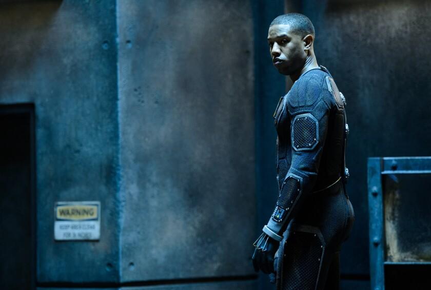 """Michael B. Jordan as Johnny Storm in director Josh Trank's upcoming reboot of """"Fantastic Four."""""""