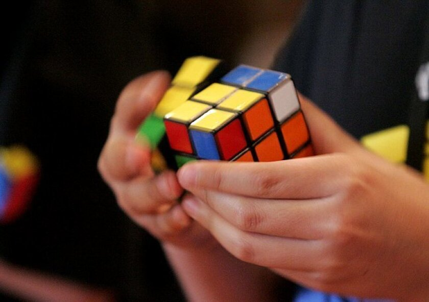 The preliminary Rubik's speed cubing contest that will send competitors to the Science Festival's Expo Day at Petco Park Saturday was held at UCSD on Wednesday.