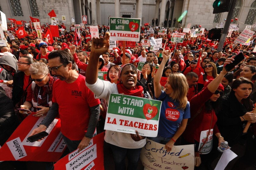 L.A. teachers union on strike in 2019