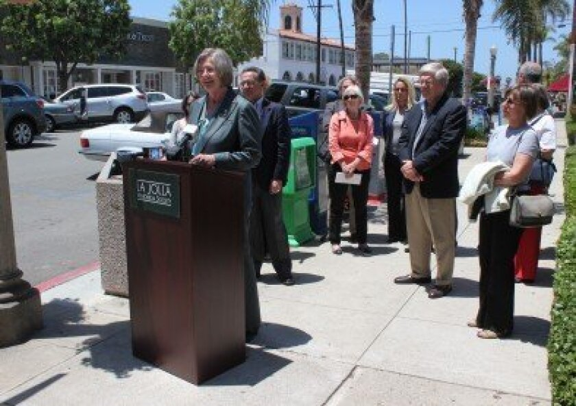 City Councilwoman Sherri Lightner spoke during a press conference June 6 to announce the Wall Street post office's inclusion on the National Trust for Historic Preservation's 2012 list of America's 11 Most Endangered Historic Places.