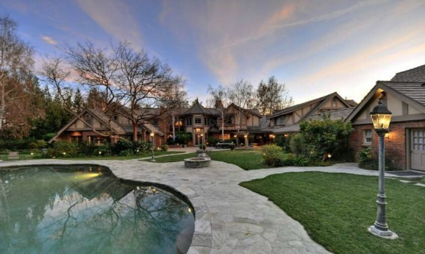 The Tudor-style house is back up for sale, having been leased last year by singer Britney Spears.
