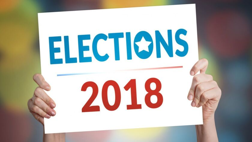 Elections 2018 Card with Bokeh Background