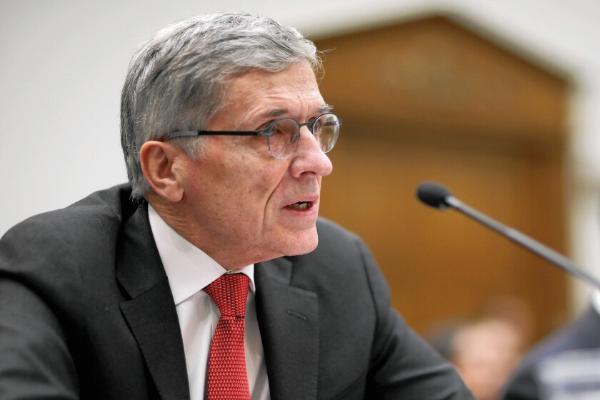 "The complicated auction of airwaves has been described by FCC Chairman Tom Wheeler, above, has having ""more moving parts than a Swiss watch."" It could fail if not enough broadcasters are willing to sell."