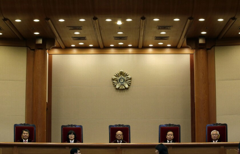 South Korea's Constitutional Court voted Feb. 26 to strike down a longstanding law that criminalized adultery.