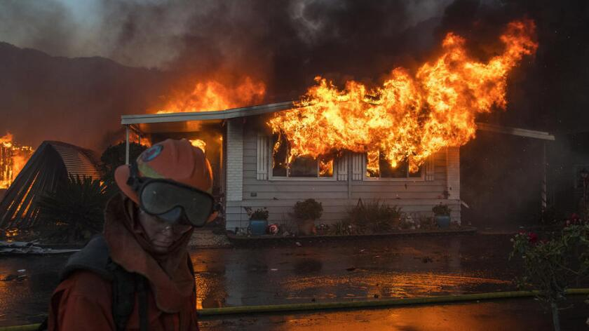 Fires rage from San Diego to the San Fernando Valley