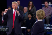 """Trump said Clinton would be """"in jail"""" if he was president"""