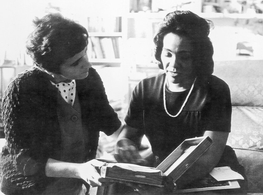 "In this 1968 photo, Coretta Scott King and AP reporter Kathryn Johnson, left, review plans for The King Center during a meeting on the campus of Atlanta University in Atlanta. In a new memoir, ""My Life with the Kings: A Reporter's Recollections of Martin, Coretta and the Civil Rights Movement,"" ret"