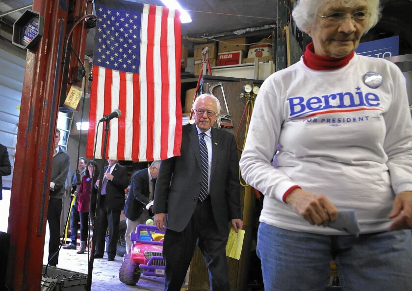 Bernie Sanders campaigns in eastern Iowa