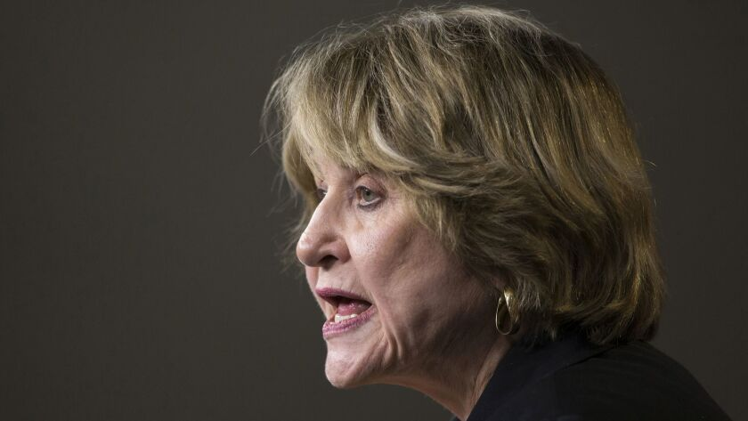Rep. Louise Slaughter (D-N.Y.) speaks at a Capitol Hill news conference on March 25, 2014.