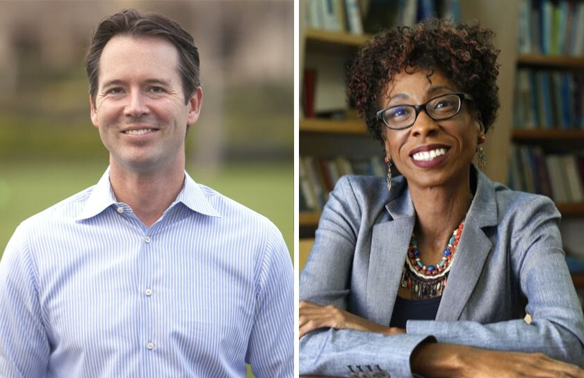 San Diego City Councilmembers Mark Kersey and Monica Montgomery.