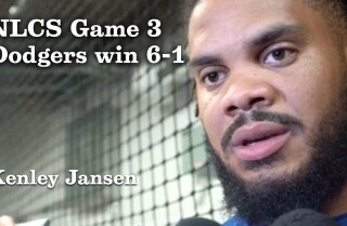 Kenley Jansen on getting the save in NLCS Game 3 and what to expect in Game 4