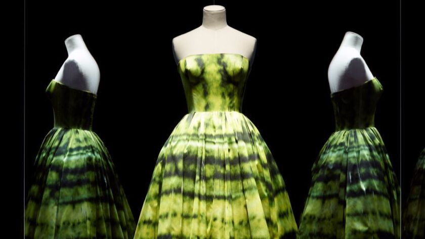 A dress by Raf Simons for Christian Dior from the haute couture fall/winter 2012 collection.