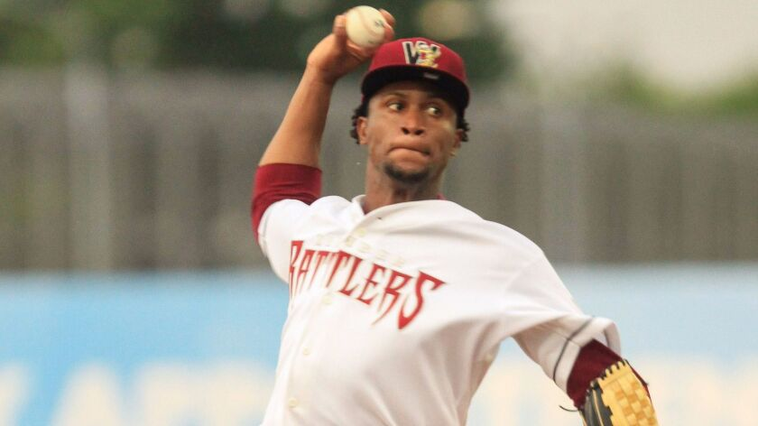 Right-hander Miguel Diaz was the top pick in the 2016 Rule 5 draft. The Padres acquired him from the Twins, who plucked him out of the Brewers' system.
