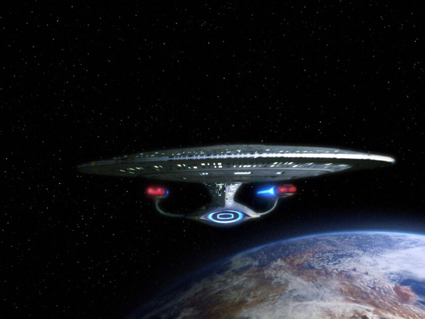 """The starship Enterprise is shown in an episode of """"Star Trek: The Next Generation."""" CBS has announced plans for a new """"Star Trek"""" series on its All Access streaming service."""