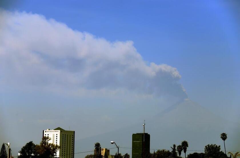 El volcán Popocatépetl registra 43 exhalaciones en las últimas 24 horas