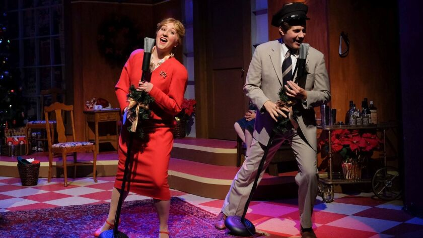 """Lise Hafso and Matthew Malecki in San Diego Musical Theatre's """"Miracle on 34th Street."""" Ken Jacques"""