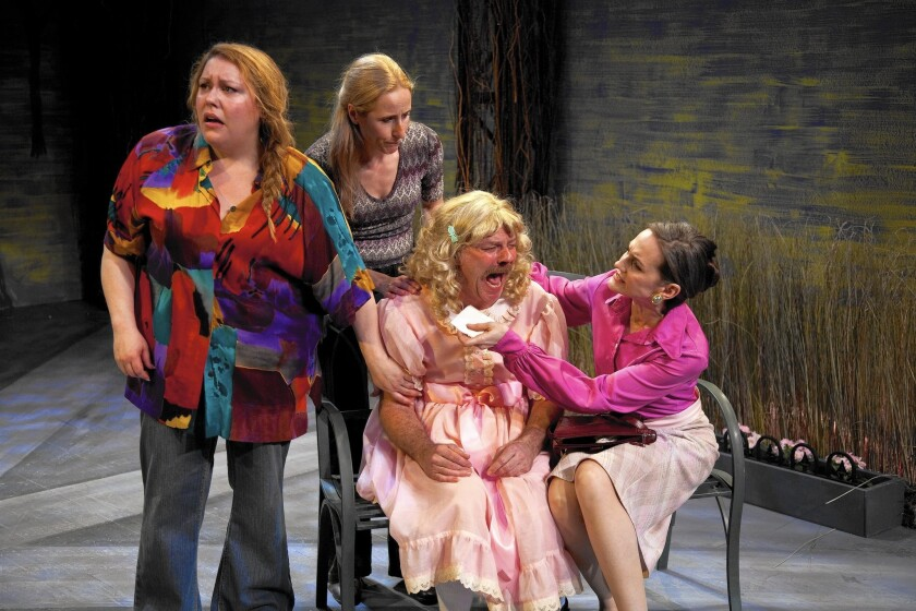 "Abigail Marks, left, Liza de Weerd, Bo Foxworth and Deborah Puette in ""Cloud 9."""