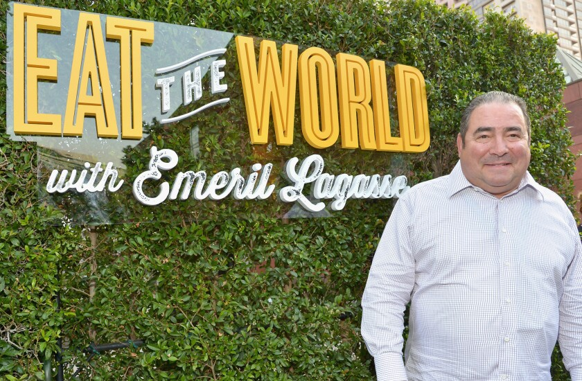 """Emeril Lagasse at the """"Eat the World With Emeril Lagasse"""" premiere in Los Angeles."""