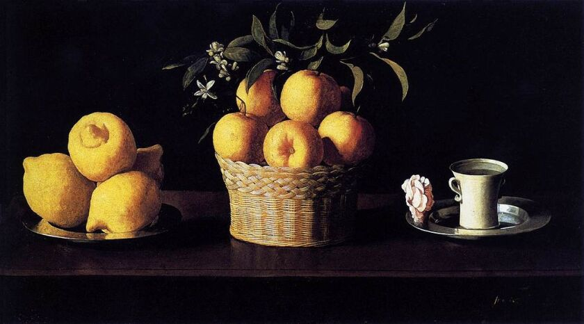 Still Life with Lemons, Oranges and a Rose, 1633 by Francisco de Zurbarán