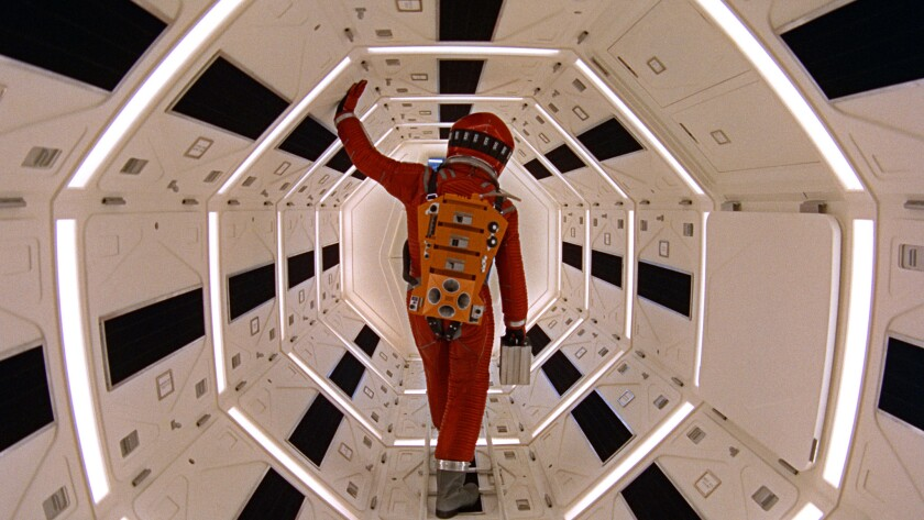 """This image released by Warner Bros. Pictures shows Keir Dullea in a scene from the 1968 film, """"2001:"""