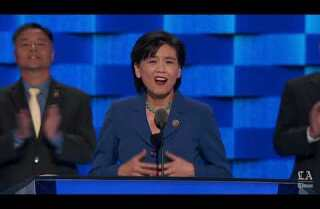 Rep. Judy Chu of California speaks at the Democratic National Convention