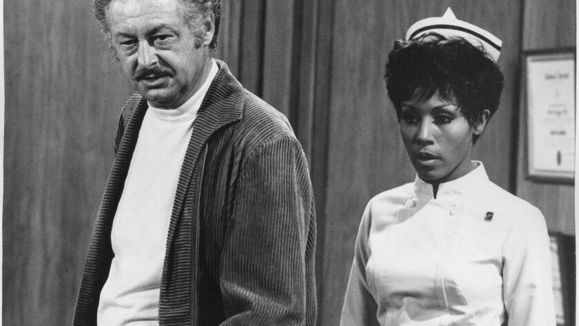 "FILE PHOTO –– Hall Kanter, TV writer who created the 1968–71 TV sitcom ""Julia"" with star Diahann Car"