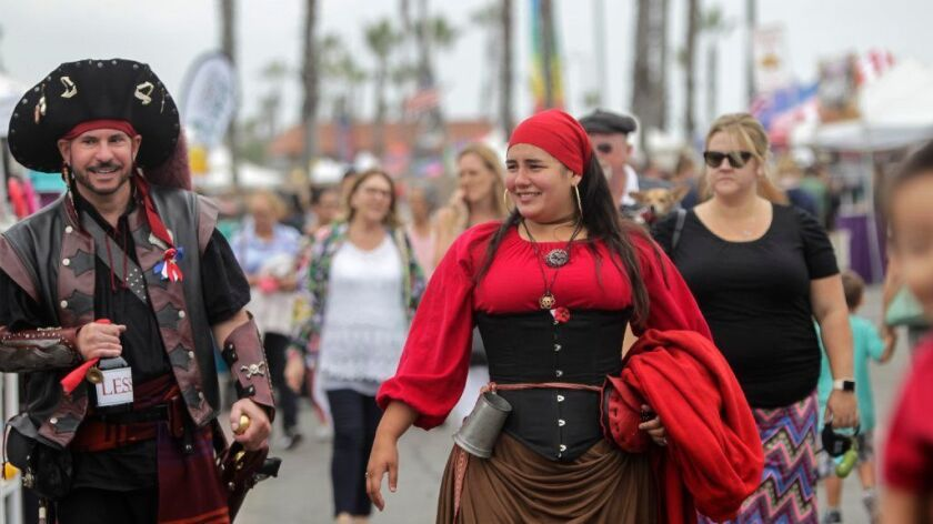Pirates on parade at Oceanside Harbor Days.