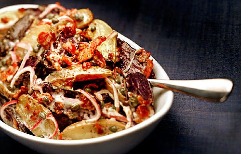 Recipe: Roasted potato salad.