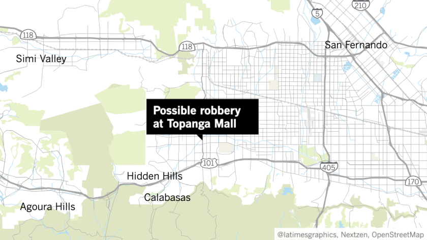 possible robbery at Westfield Topanga mall