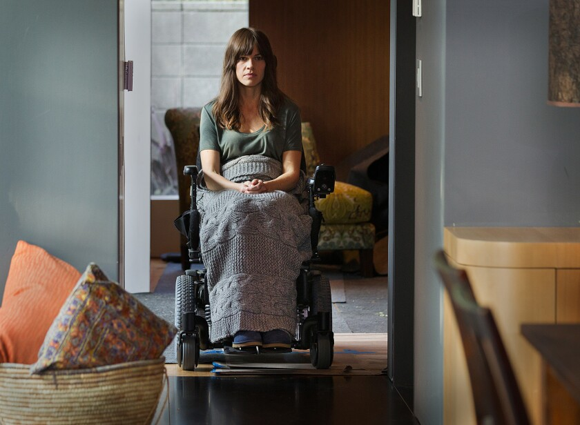 """Hilary Swank stars as a pianist diagnosed with ALS in """"You're Not You."""""""