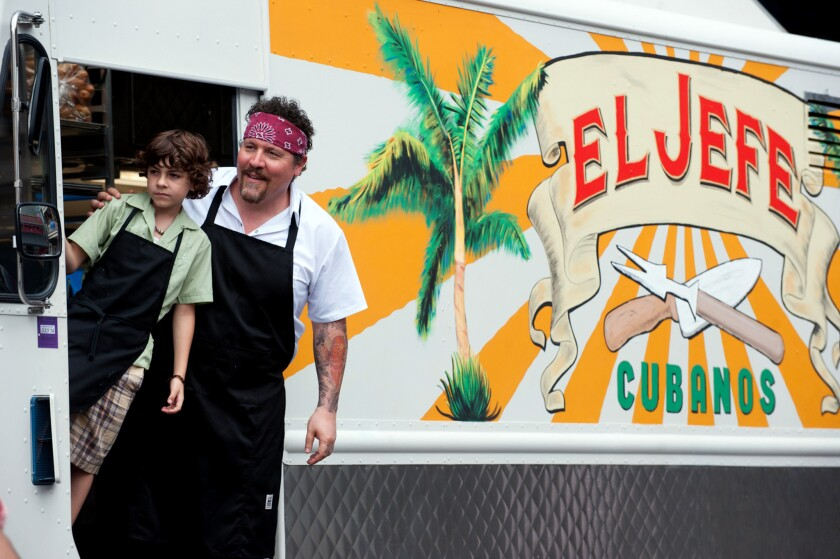 """Jon Favreau, starring as a food truck chef in the movie """"Chef,"""" will pop up at Roy Choi's new restaurant, Pot, on Thursday."""
