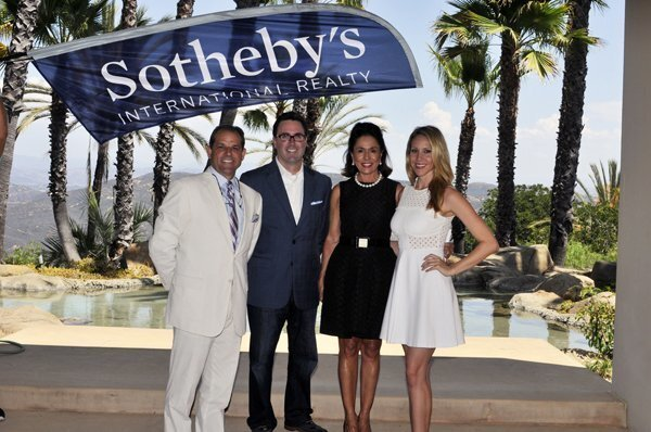 David Ashcroft of Platinum Luxury Auctions, Pacific Sotheby's International Realty Chief Operating Officer Chris Crocker, K. Ann Brizolis and Priscilla Wood of K. Ann Brizolis and Associates